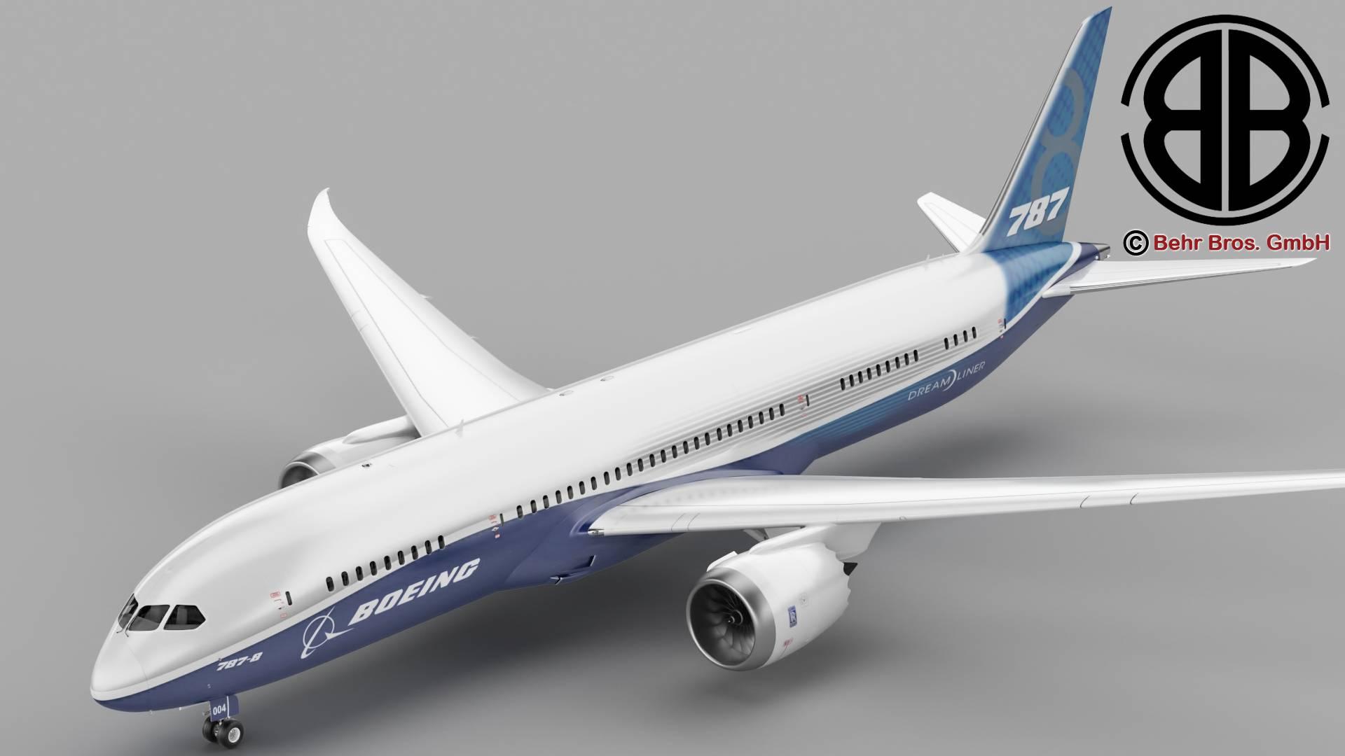 boeing 787-8 3d model 3ds max fbx c4d lwo ma mb obj 251346