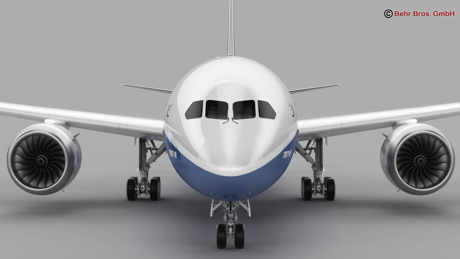Boeing 787-8 3d gerð 3ds max fbx c4d lwo ma mb obj 251347