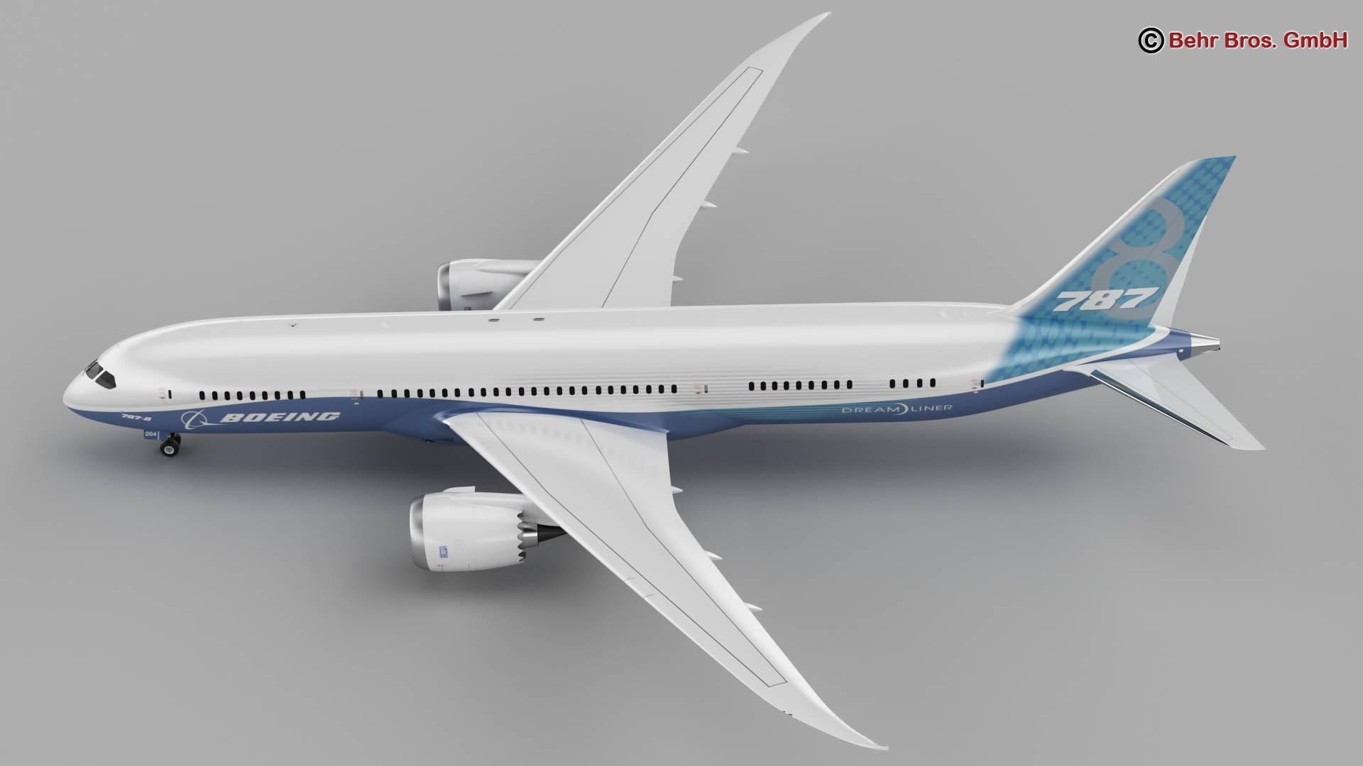 Boeing 787-8 3d gerð 3ds max fbx c4d lwo ma mb obj 251355