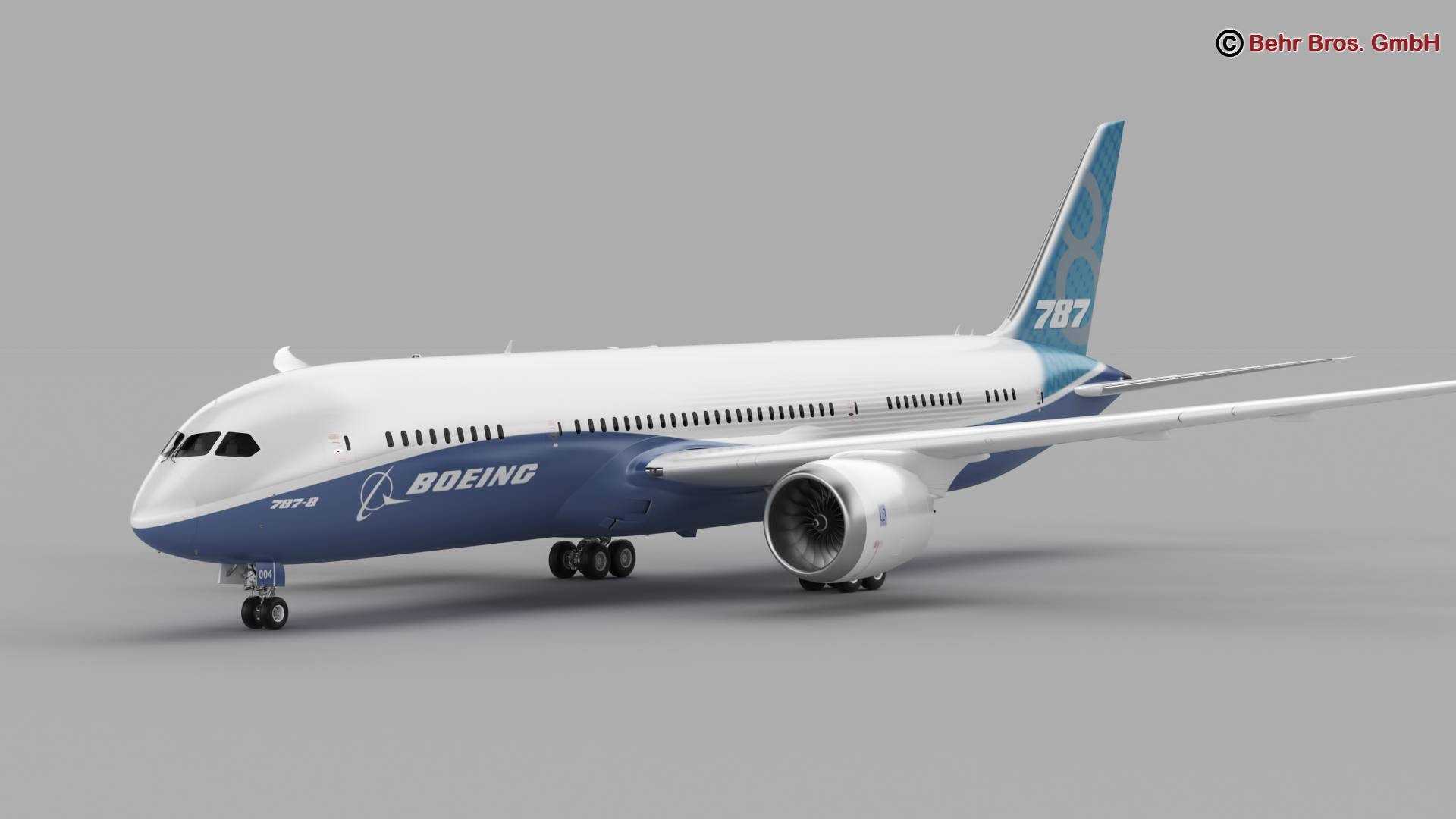 Boeing 787-8 3d gerð 3ds max fbx c4d lwo ma mb obj 251356