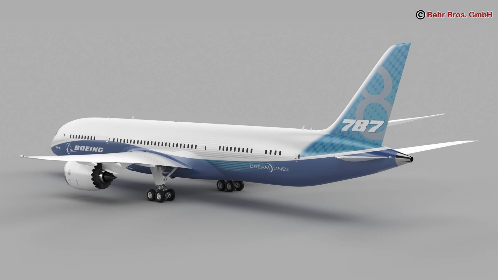 boeing 787-8 3d model 3ds max fbx c4d lwo ma mb obj 251358