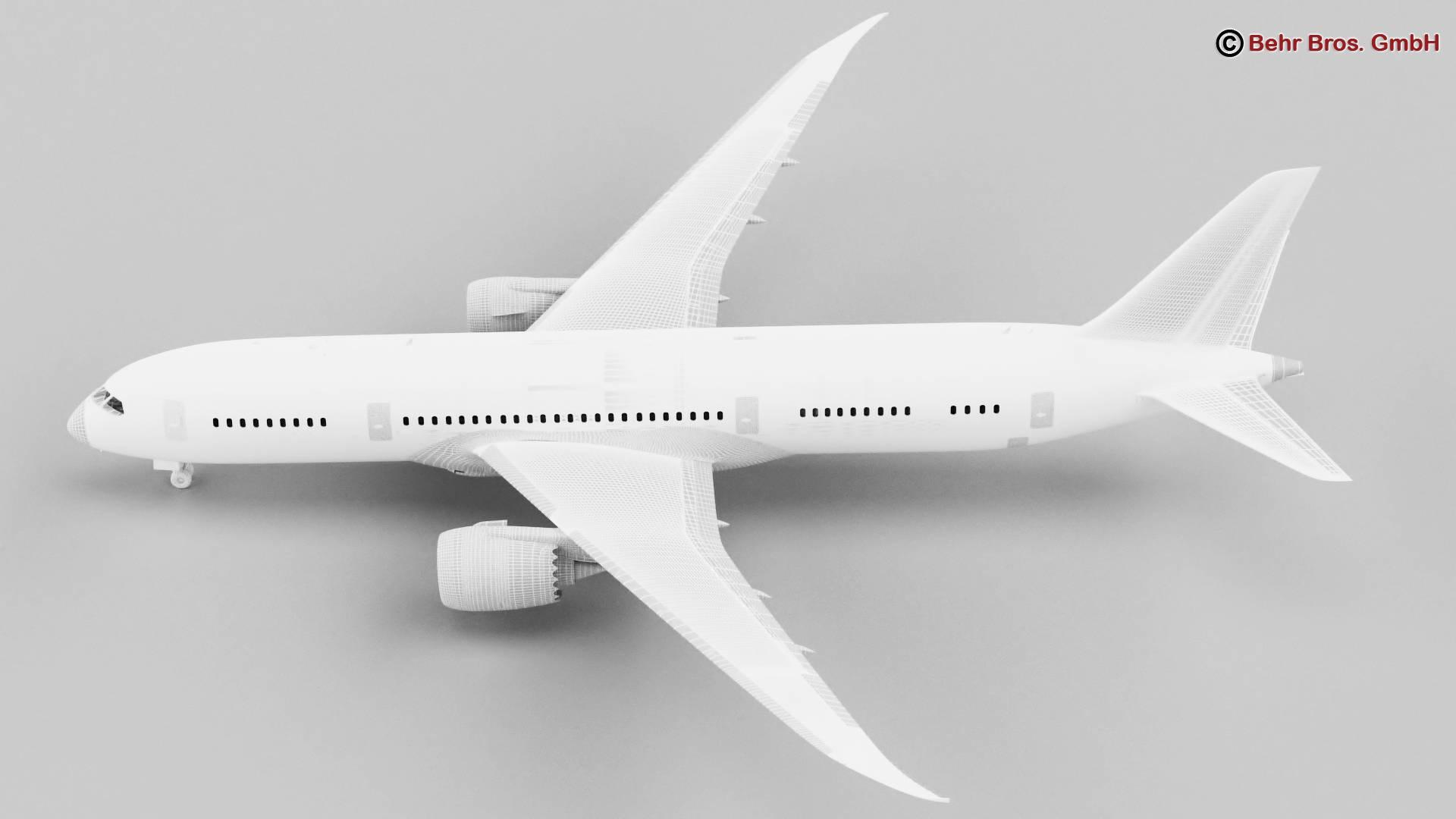 Boeing 787-8 3d gerð 3ds max fbx c4d lwo ma mb obj 251371