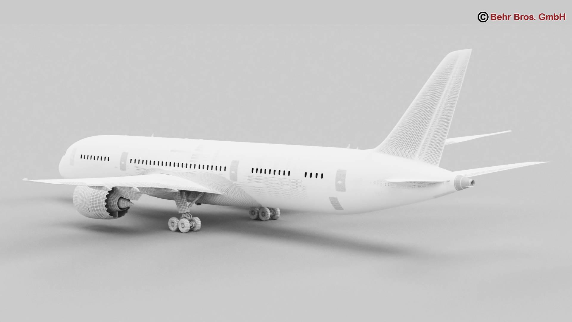 Boeing 787-8 3d gerð 3ds max fbx c4d lwo ma mb obj 251374