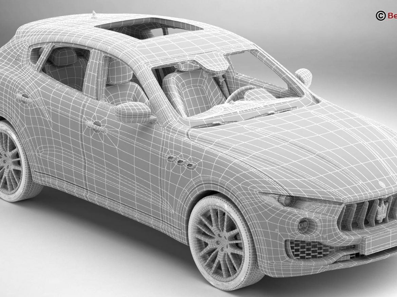 Maserati Levante 2017 3d model 3ds max fbx c4d lwo lws lw ma mb obj
