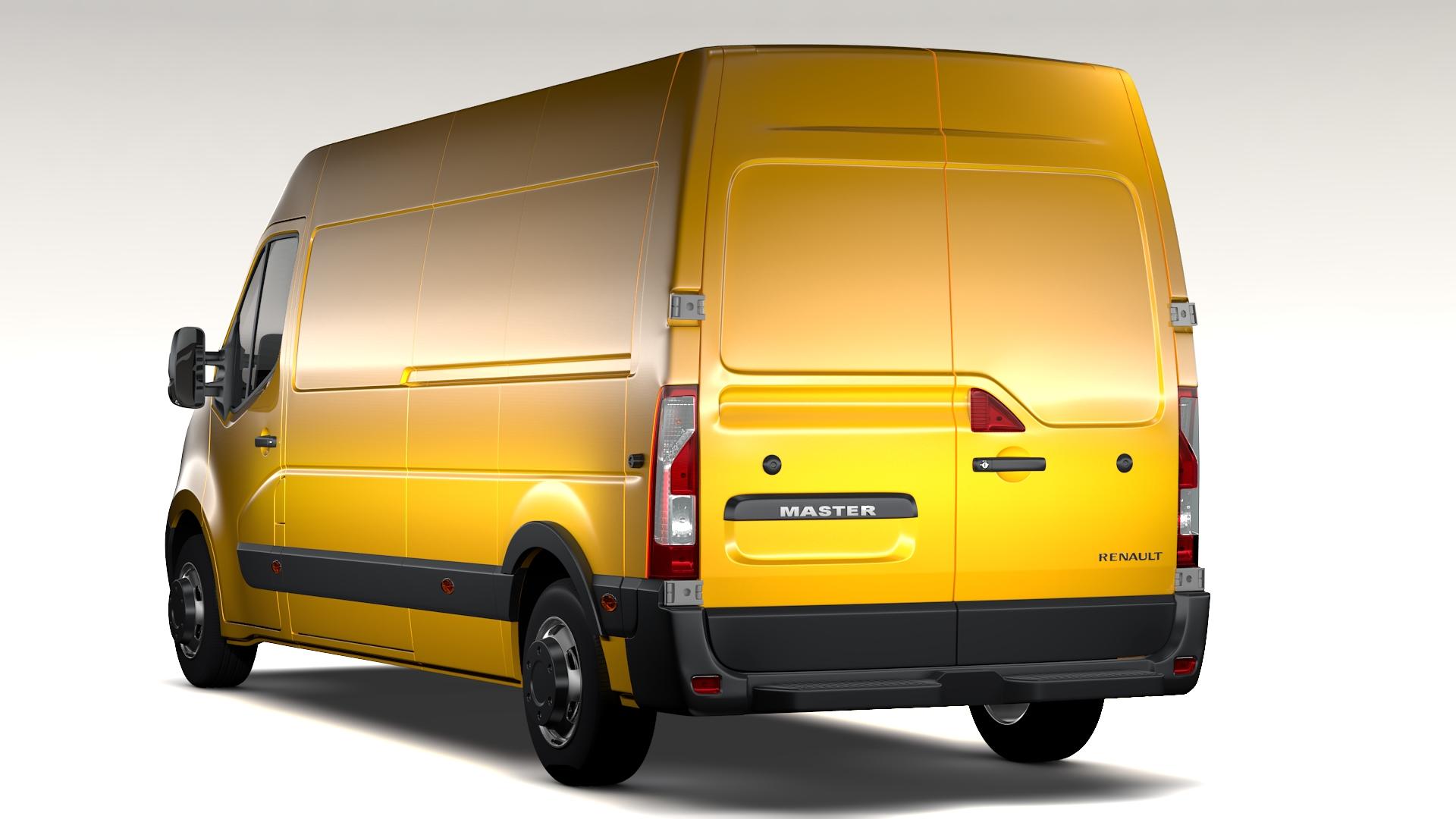 renault meistars l3h2 van 2010 3d modelis 3ds maks.