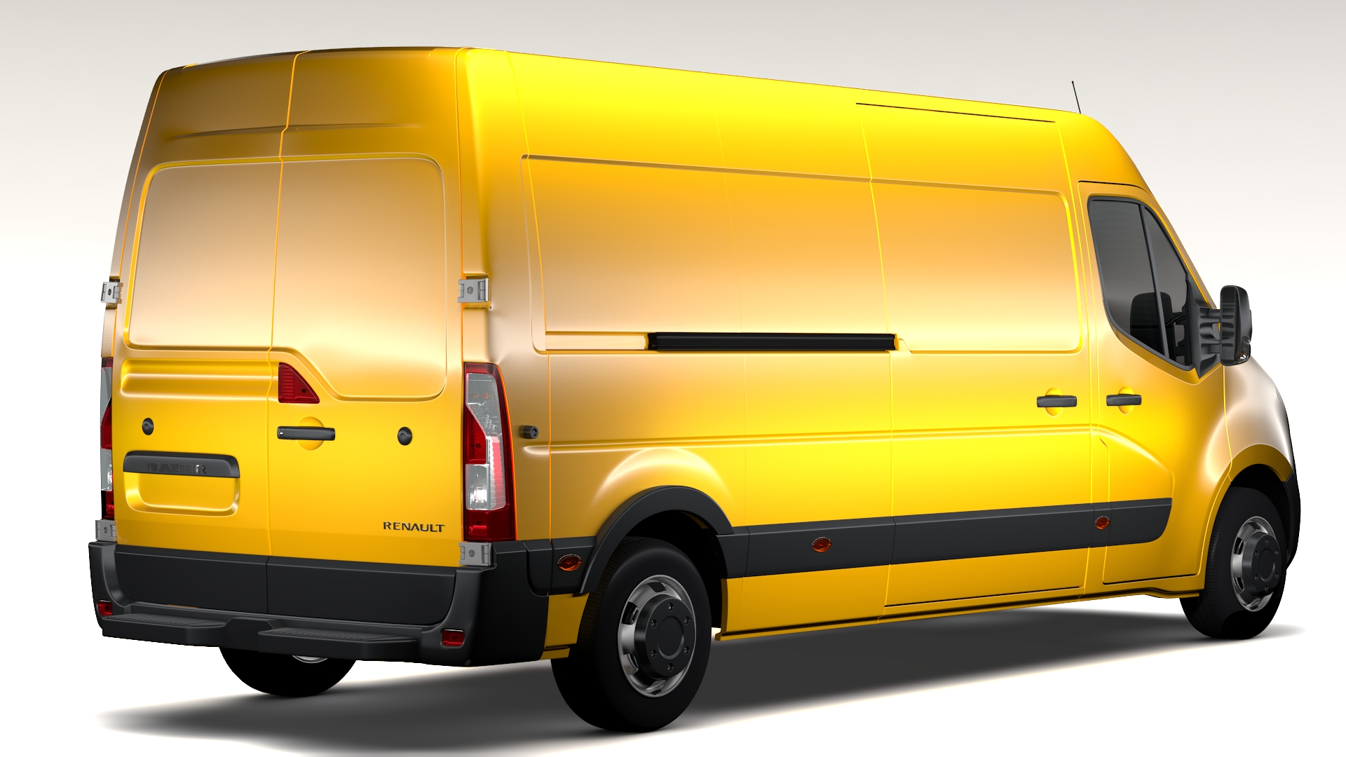 renault master l3h2 van 2010 3d model. Black Bedroom Furniture Sets. Home Design Ideas