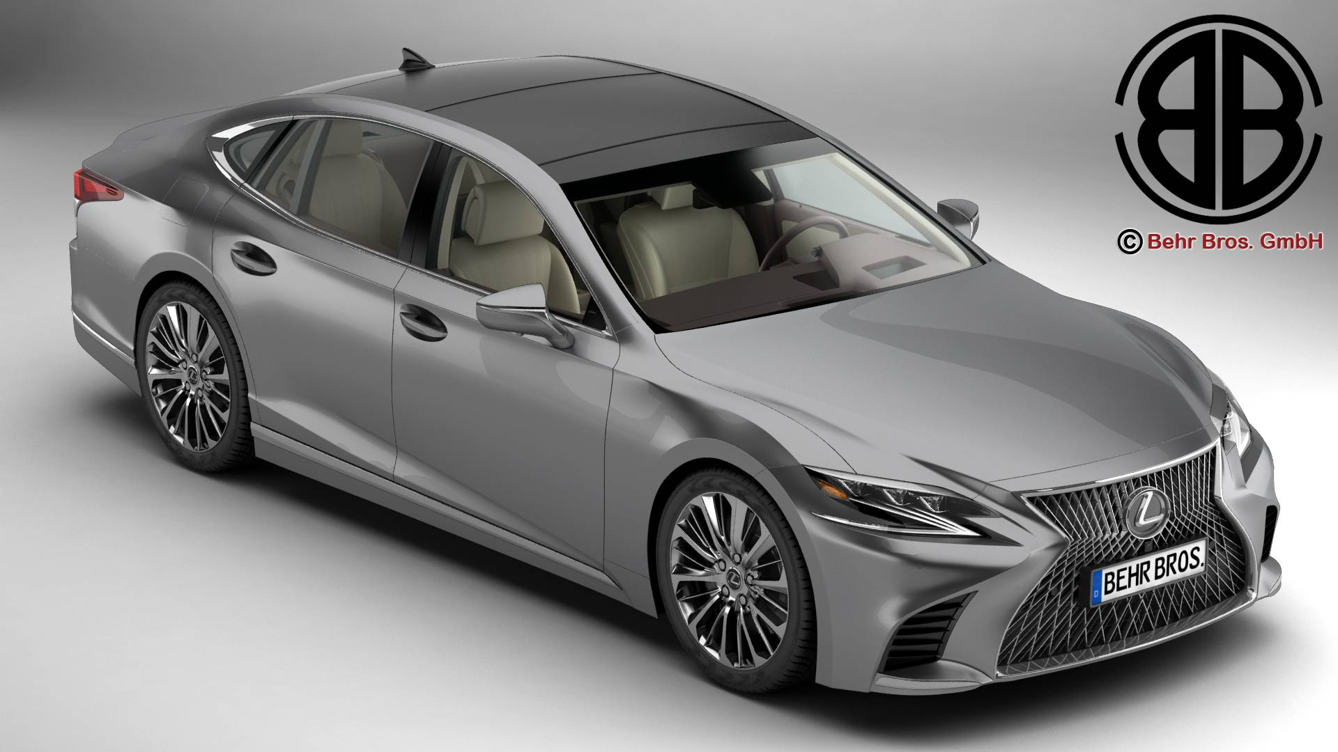 lexus ls 500 2018 3d model 3ds max fbx c4d le do thoil 251510