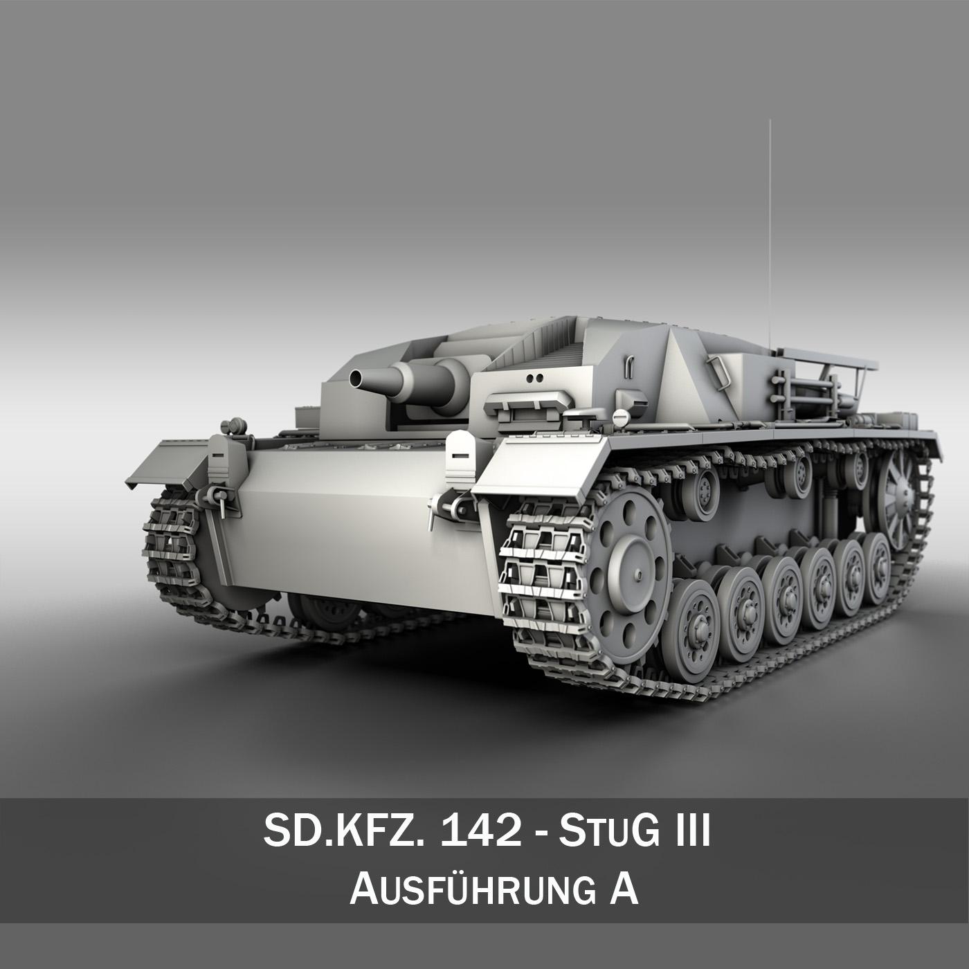 sdkfz. 142 - stug 3 - ausf.a Samhail 3d 3ds fbx c4d lwo obj 251586