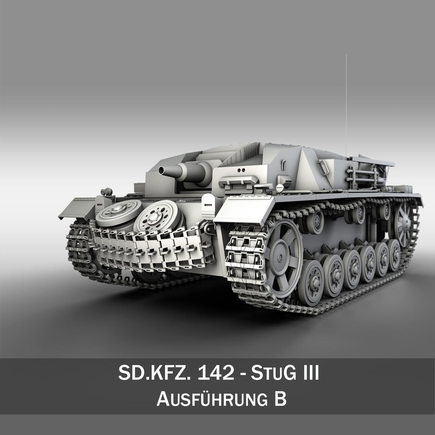 sdkfz. 142 - stug 3 - ausf.b Samhail 3d 3ds fbx c4d lwo obj 251597