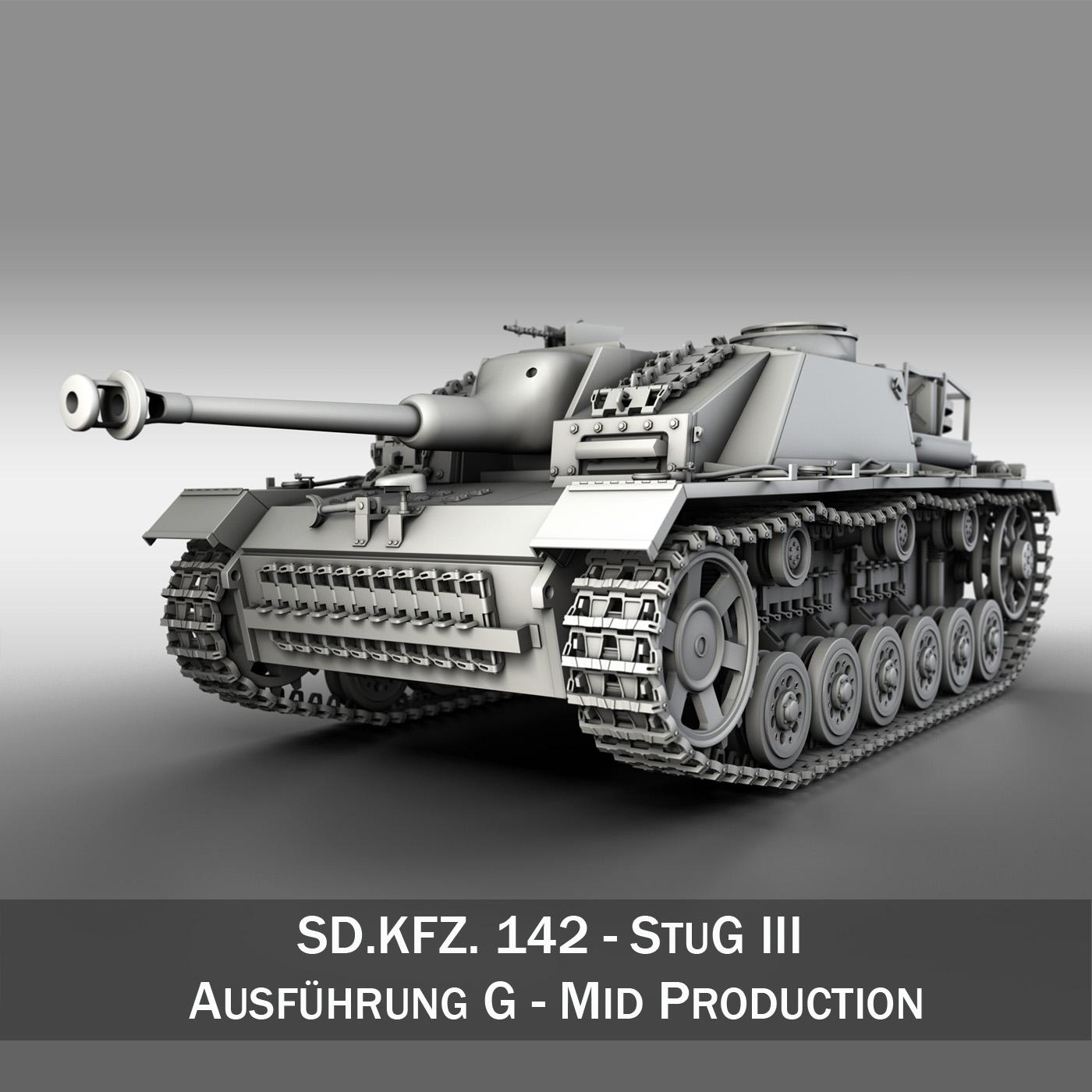 sdkfz 142 – stug iii – ausf. g – mid production 3d model 3ds fbx c4d obj 251619