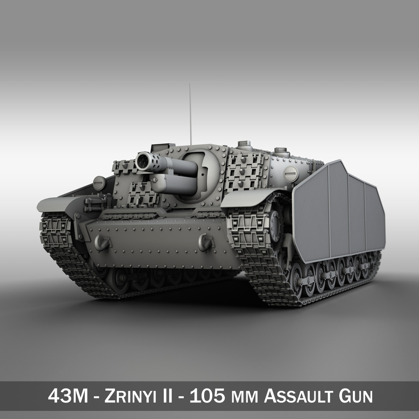 43m zrinyi ii – hungarian assault gun 3d model 3ds fbx c4d lwo obj 251630