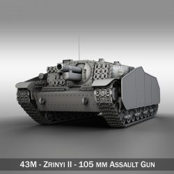 43M Zrinyi II - Hungarian Assault Gun  ( 237.56KB jpg by Panaristi )