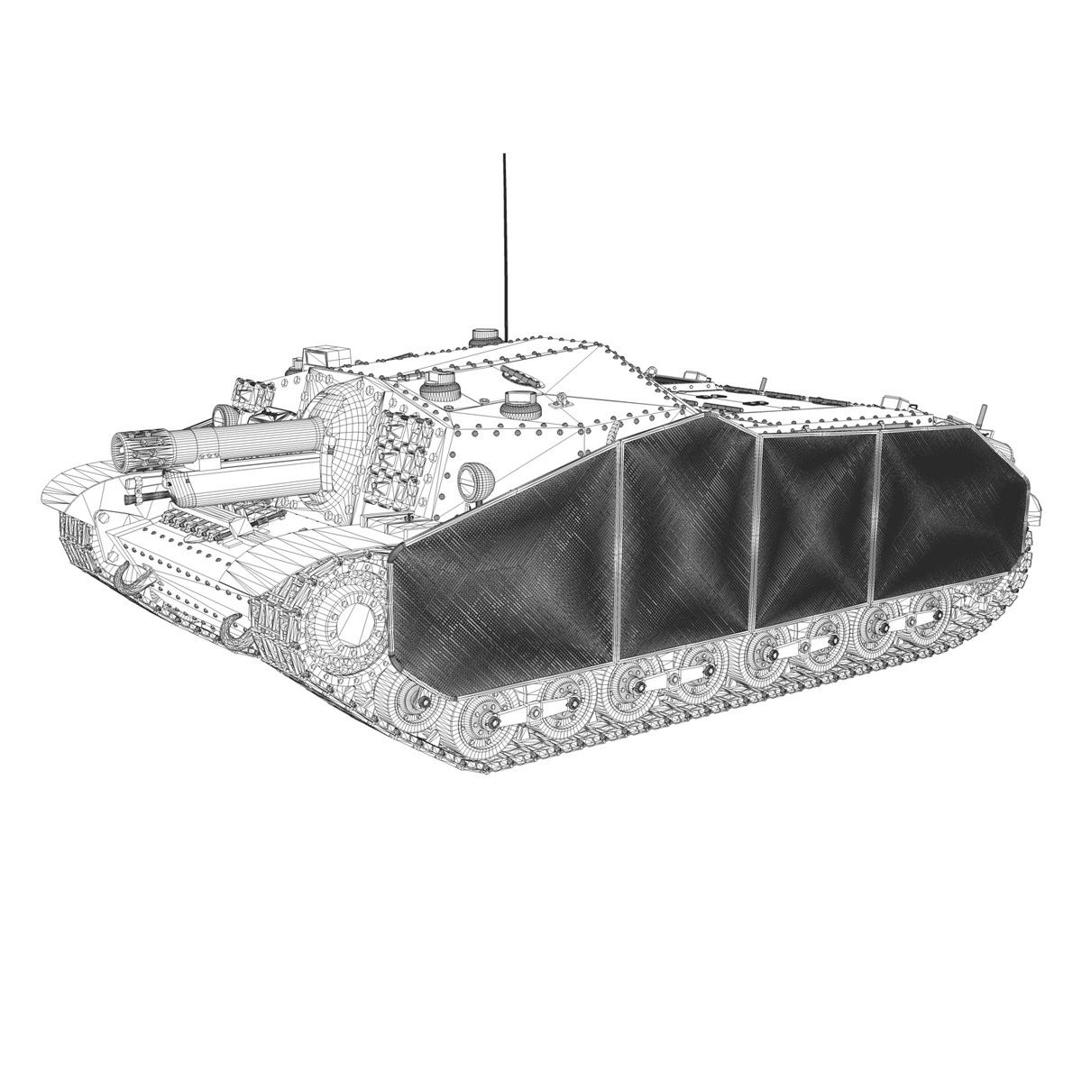43m zrinyi ii – hungarian assault gun 3d model 3ds fbx c4d lwo obj 251639
