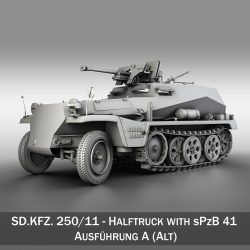 SDKFZ 250 - Halftruck with sPzB 41 ( 260.35KB jpg by Panaristi )