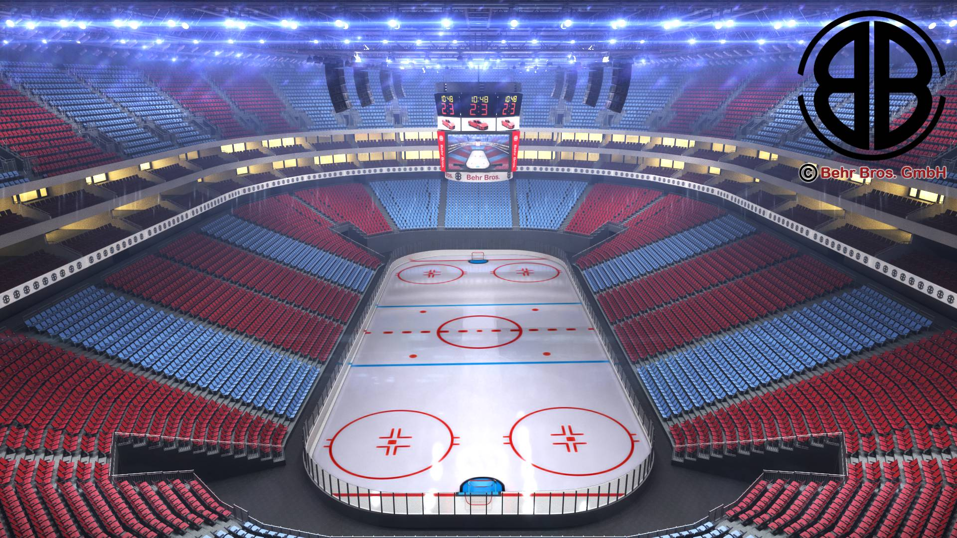 ice hockey arena v2 3d model 3ds max fbx c4d lwo ma mb obj 251652