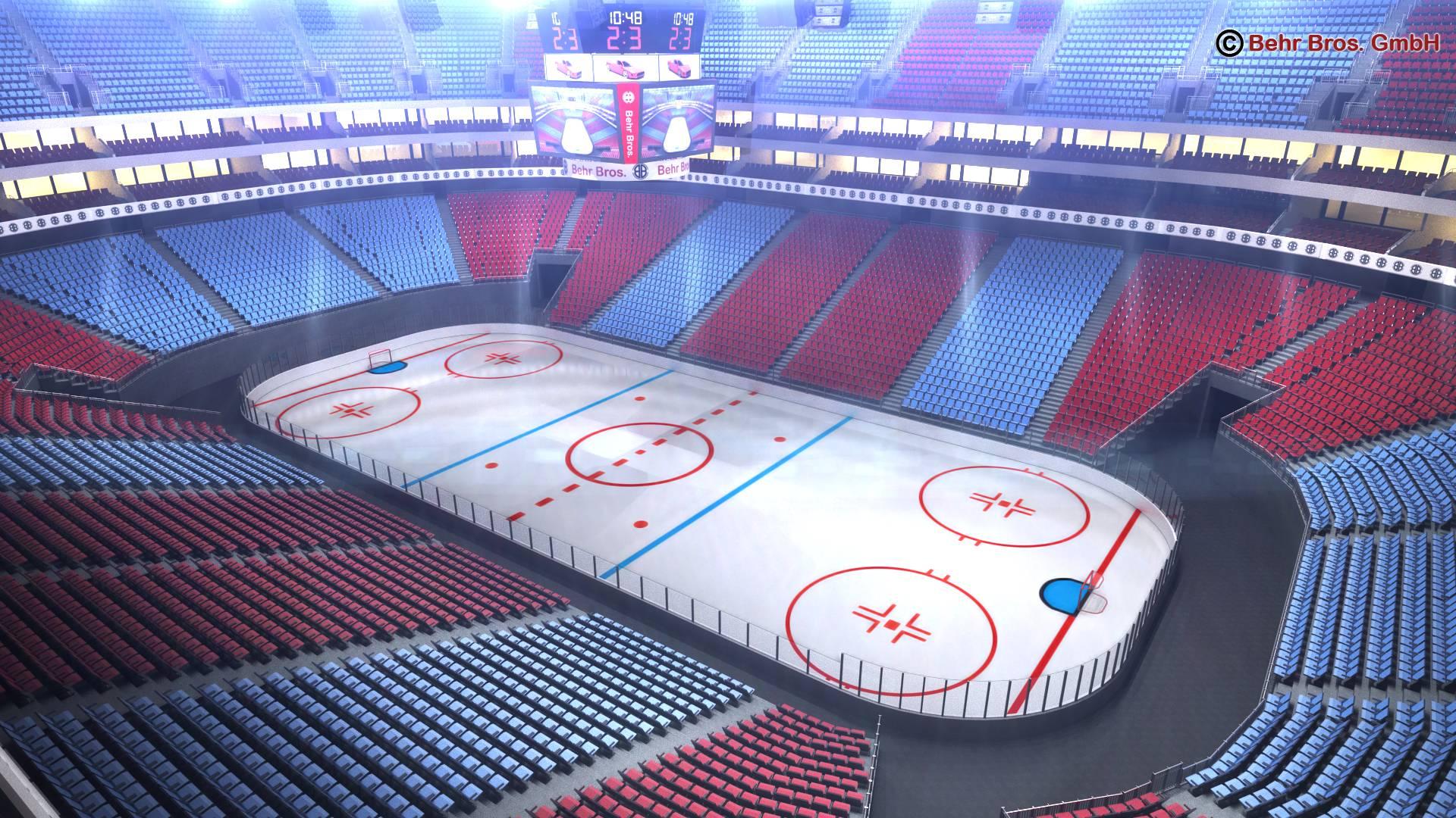 ice hockey arena v2 3d model 3ds max fbx c4d lwo ma mb obj 251653