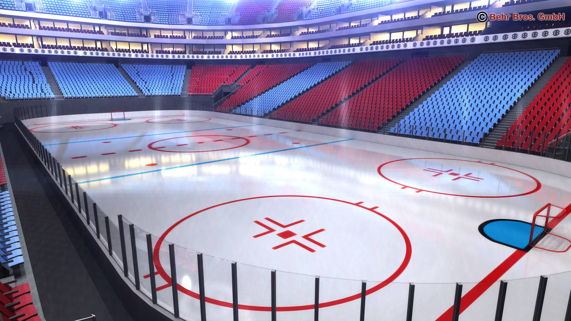 ice hockey arena v2 3d model 3ds max fbx c4d lwo ma mb obj 251654