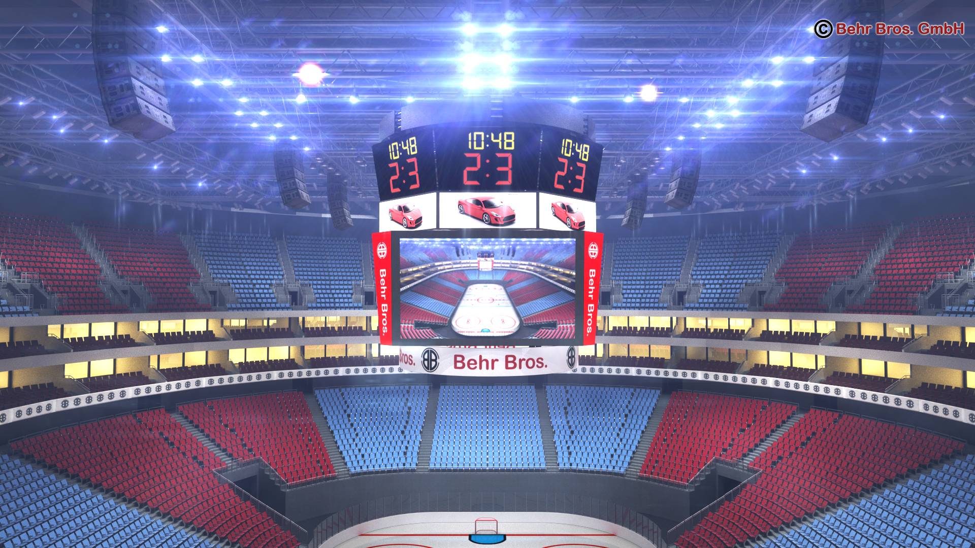 ice hockey arena v2 3d model 3ds max fbx c4d lwo ma mb obj 251655