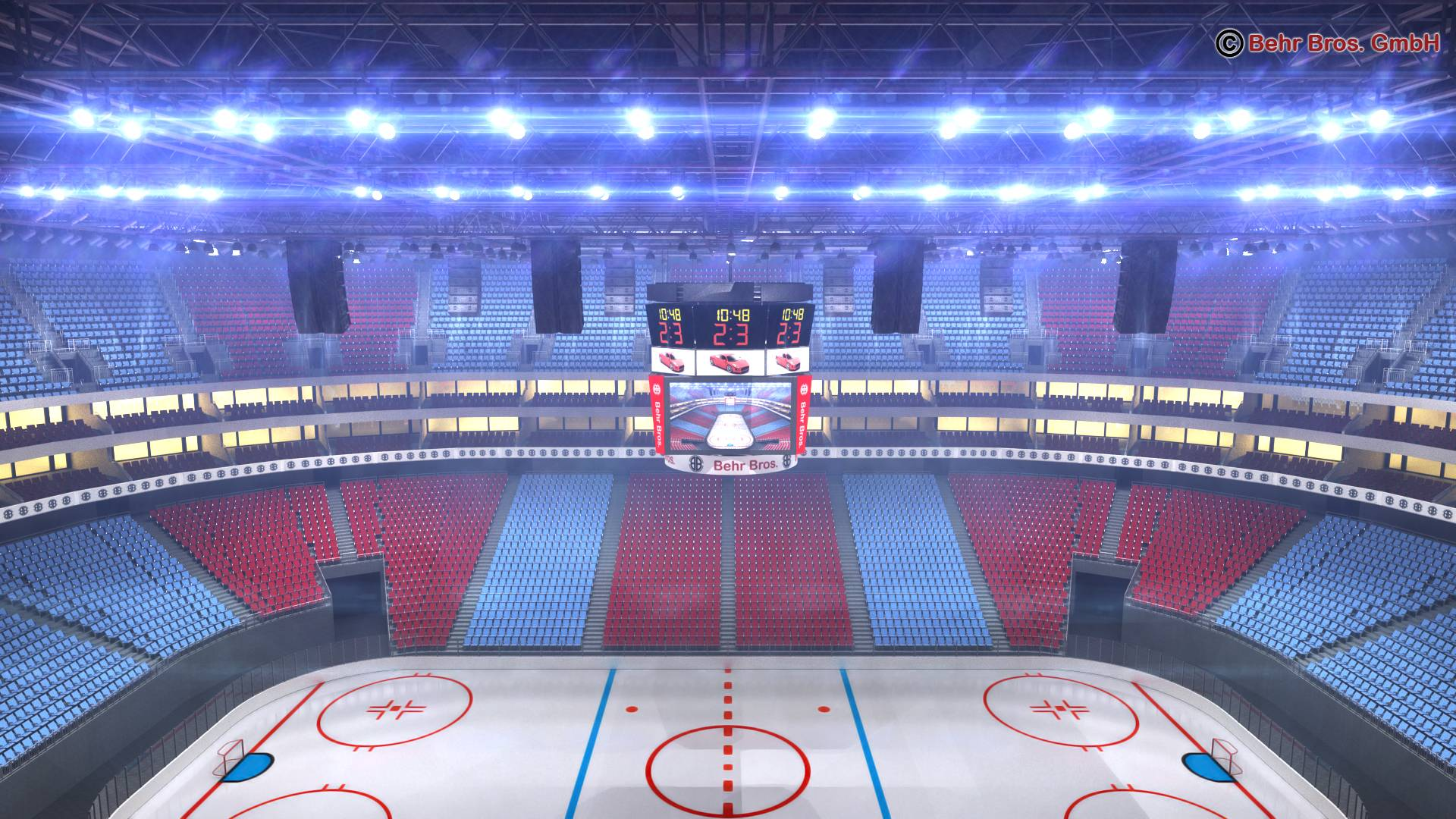 мөсөн хоккейн талбай V2 3d загвар 3ds max fbx c4d 251656