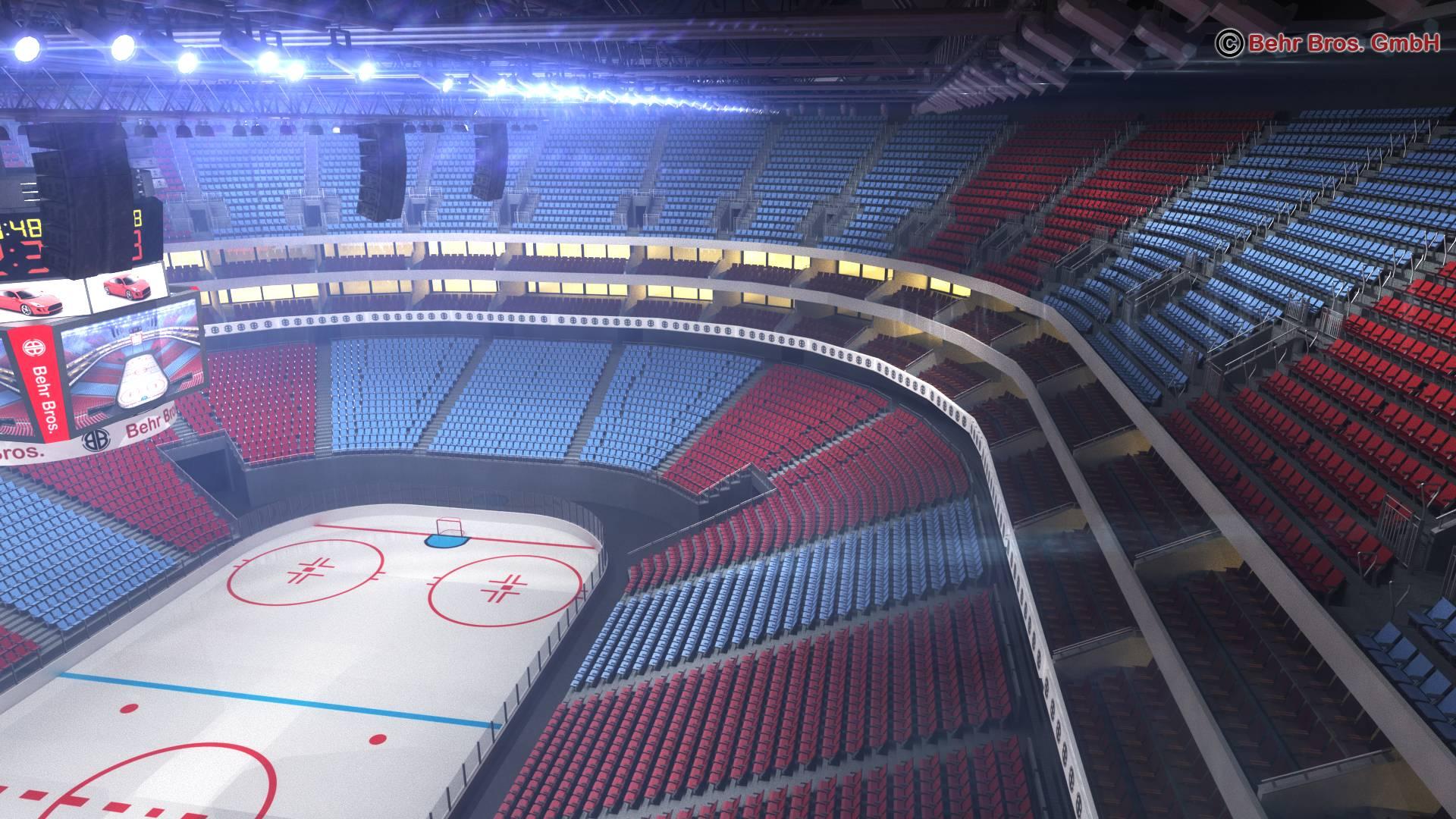 ice hockey arena v2 3d model 3ds max fbx c4d lwo ma mb obj 251657