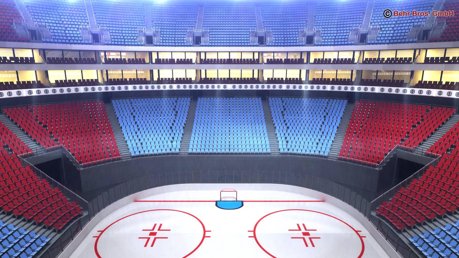 Ice Hockey Arena V2 3d Model Flatpyramid