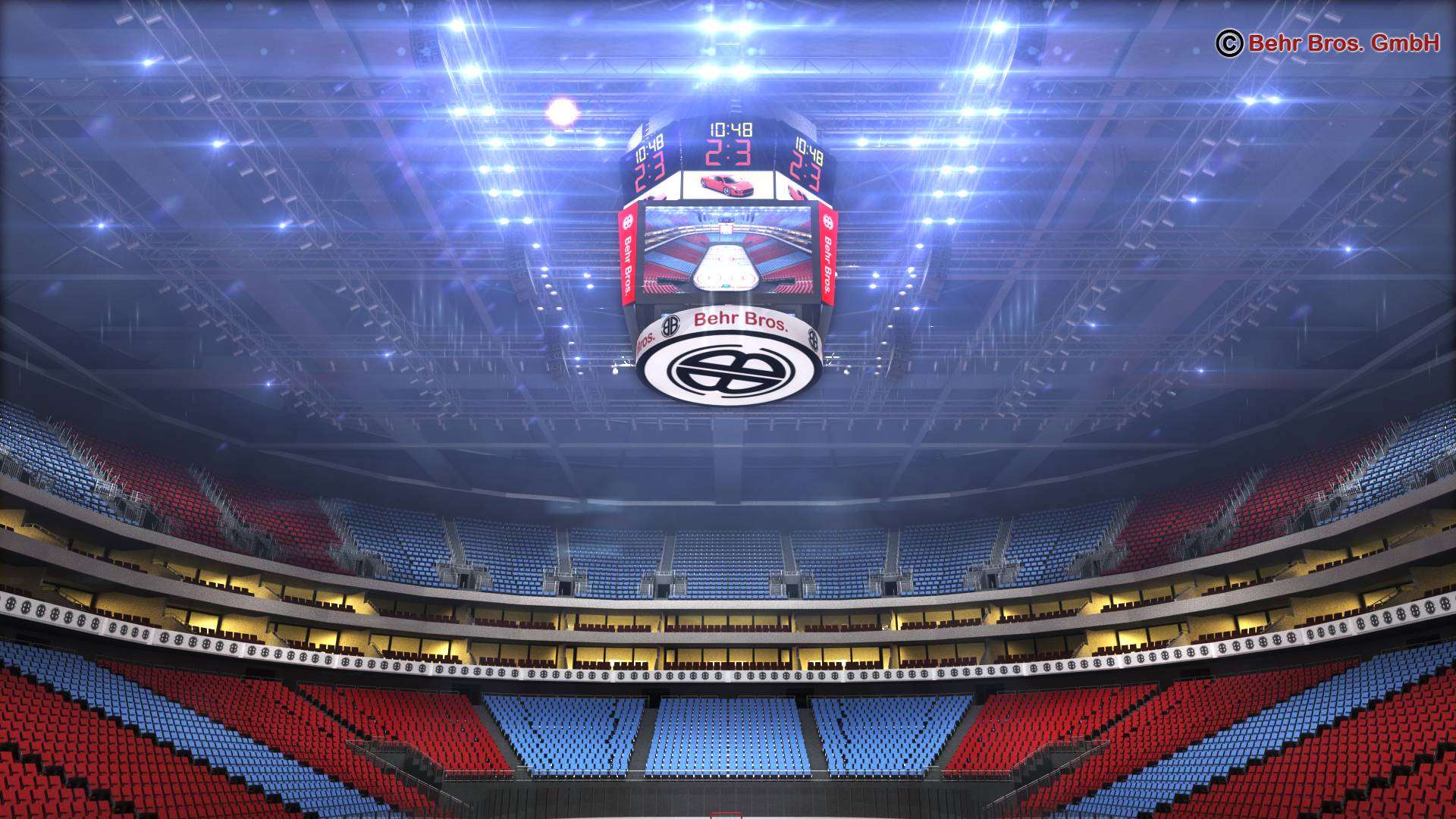 ice hockey arena v2 3d model 3ds max fbx c4d lwo ma mb obj 251659