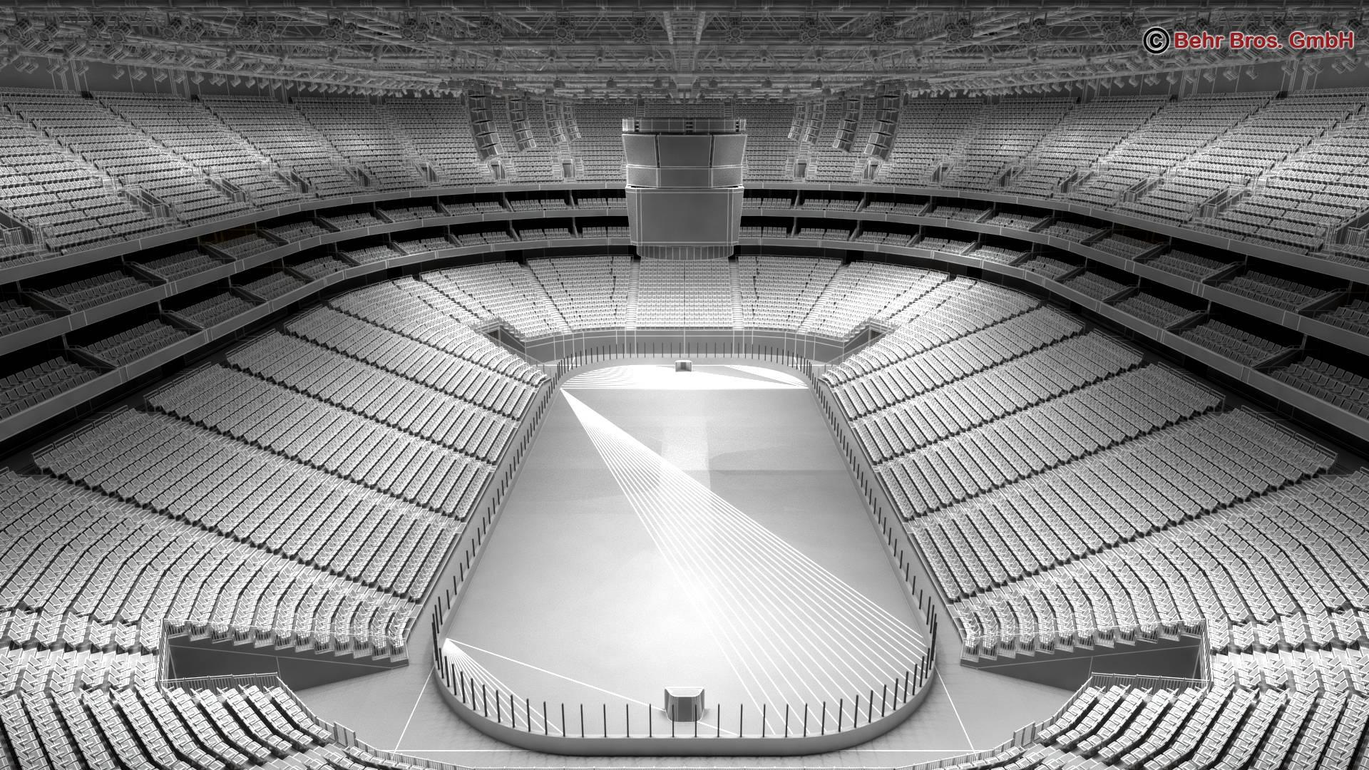 ice hockey arena v2 3d model 3ds max fbx c4d lwo ma mb obj 251660