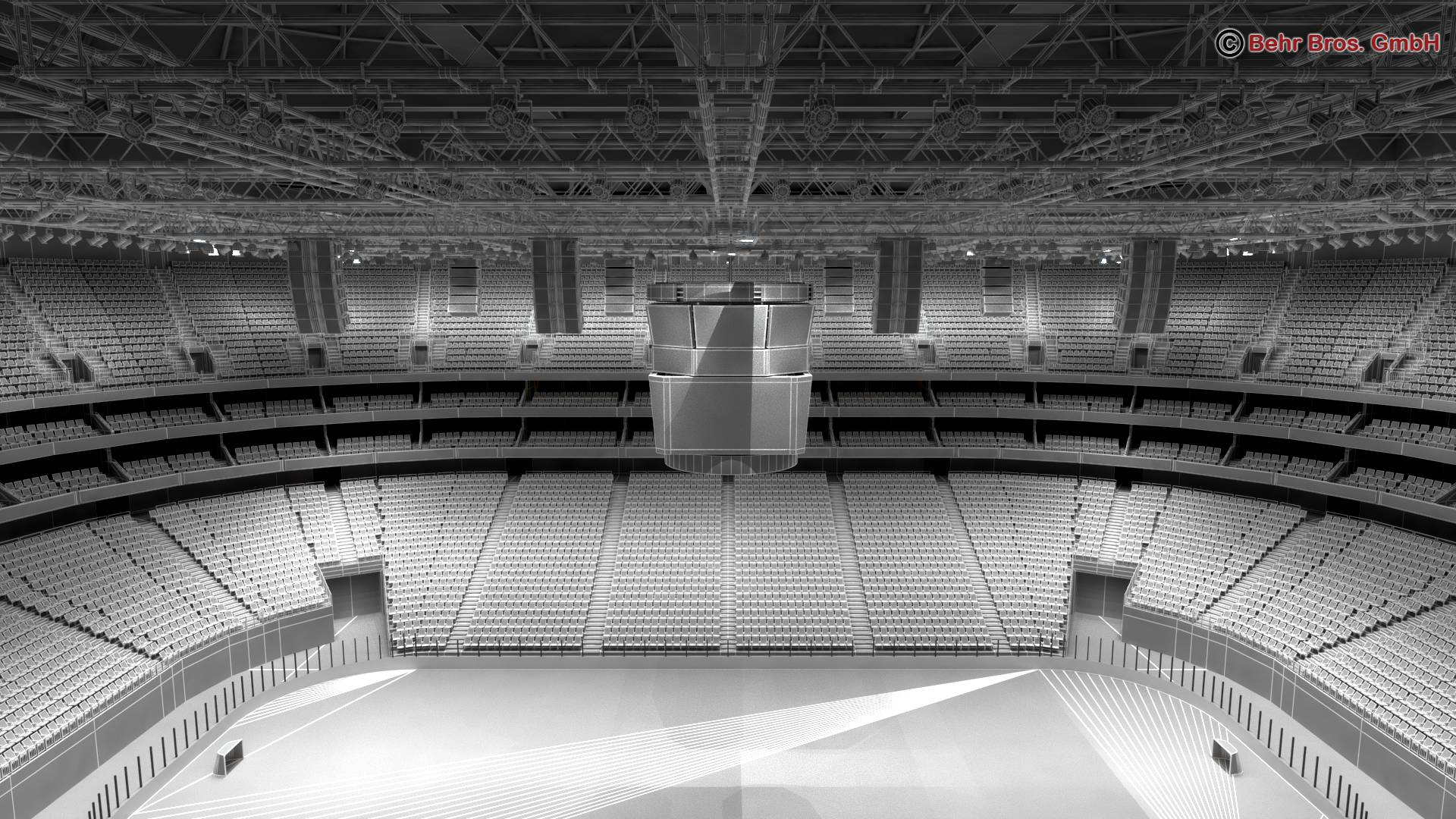 ice hockey arena v2 3d model 3ds max fbx c4d lwo ma mb obj 251664