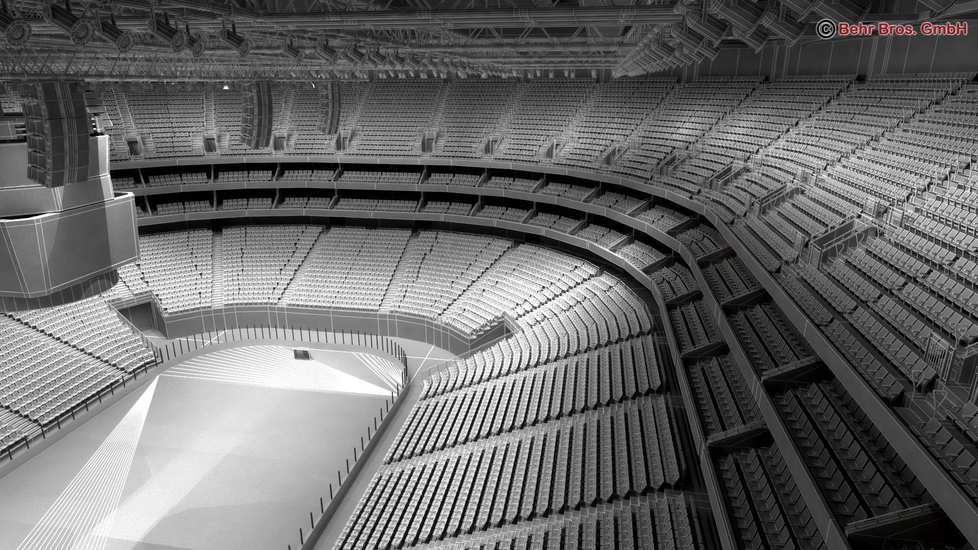 мөсөн хоккейн талбай V2 3d загвар 3ds max fbx c4d 251665