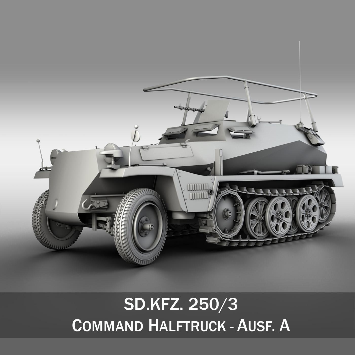 sdkfz 250 – command halftrack 3d model 3ds fbx c4d lwo obj 251669
