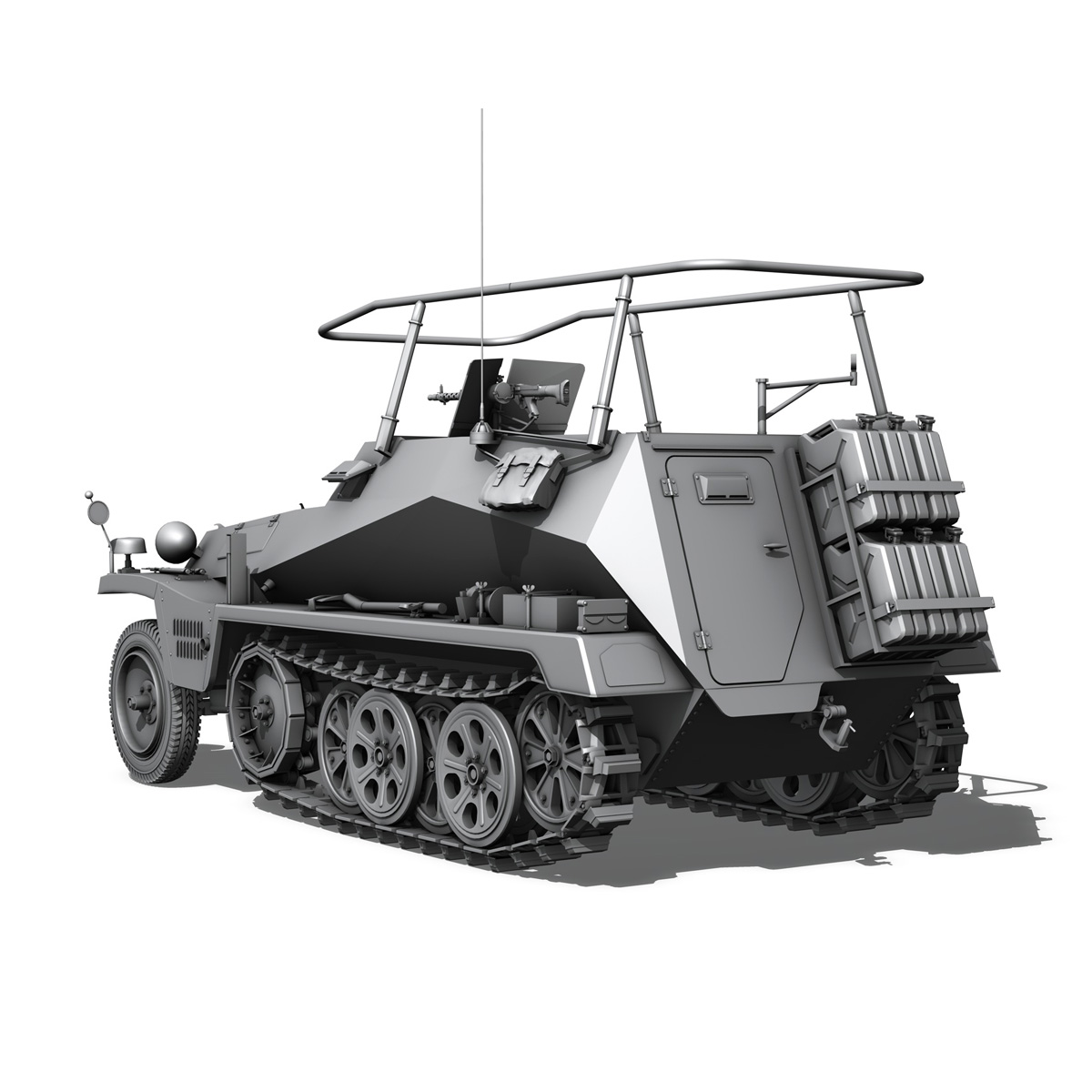 sdkfz 250 – command halftrack 3d model 3ds fbx c4d lwo obj 251672
