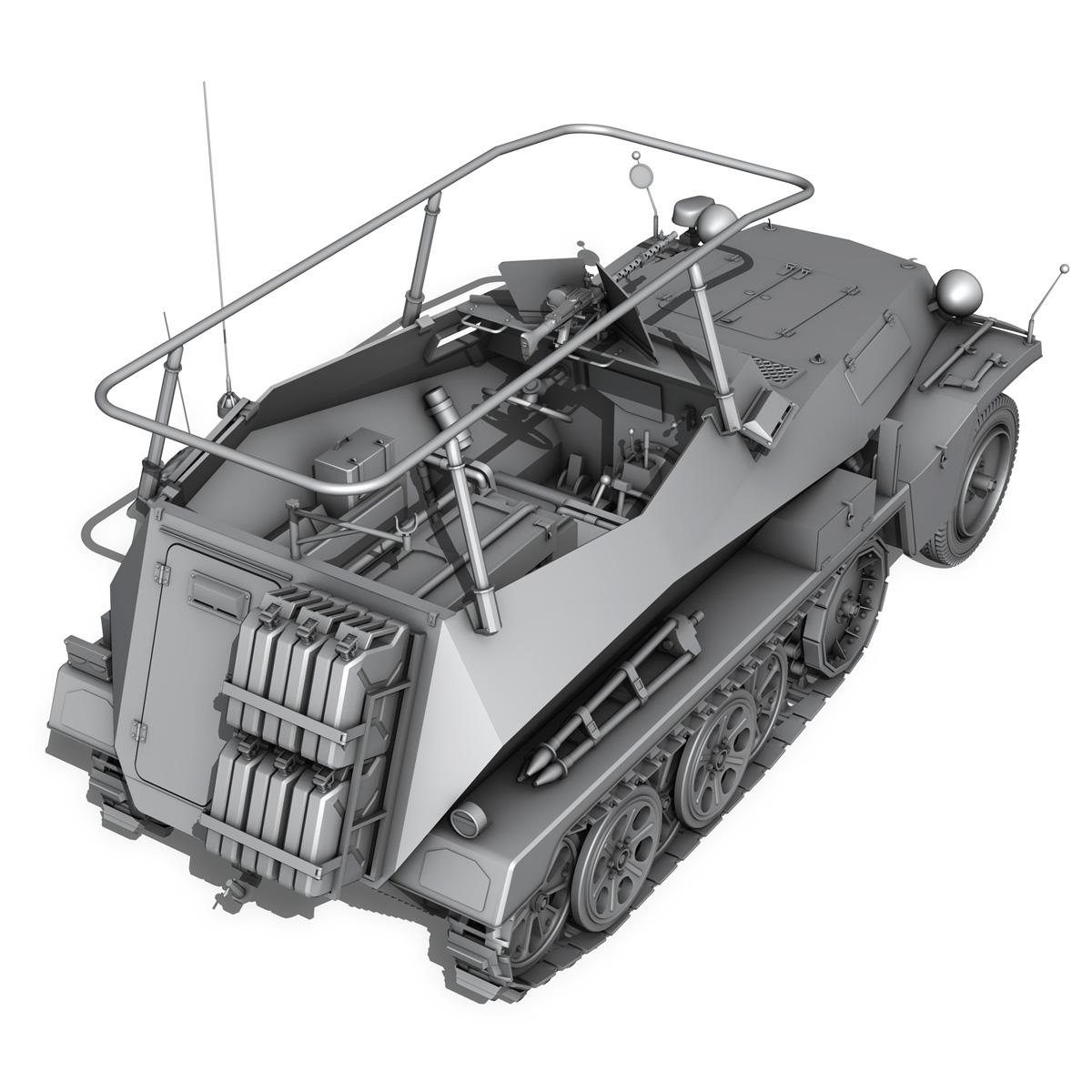sdkfz 250 – command halftrack 3d model 3ds fbx c4d lwo obj 251673