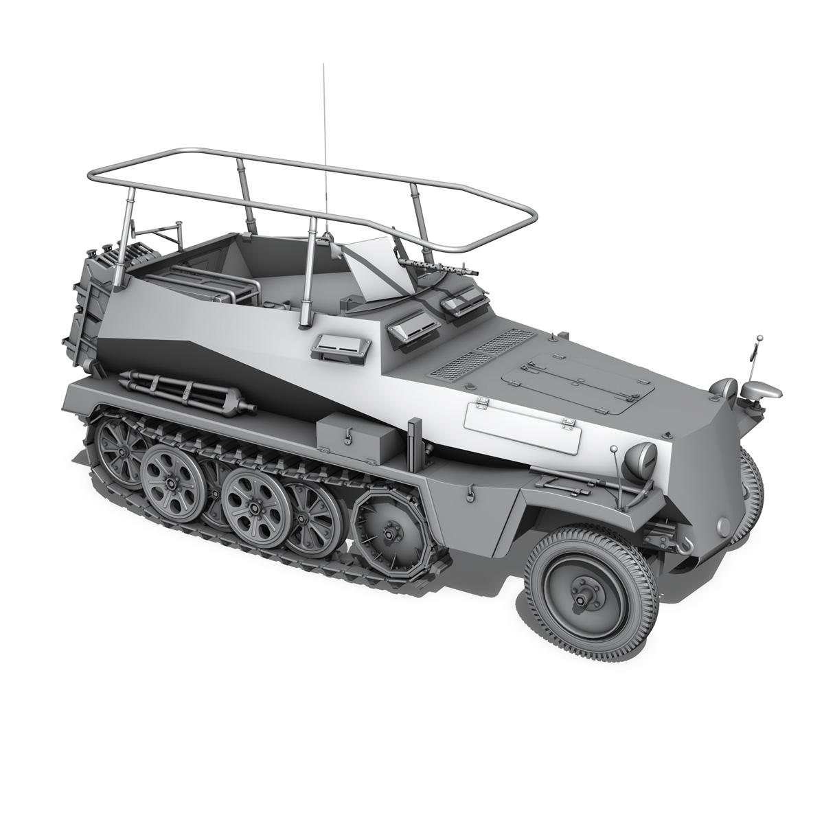 sdkfz 250 – command halftrack 3d model 3ds fbx c4d lwo obj 251674