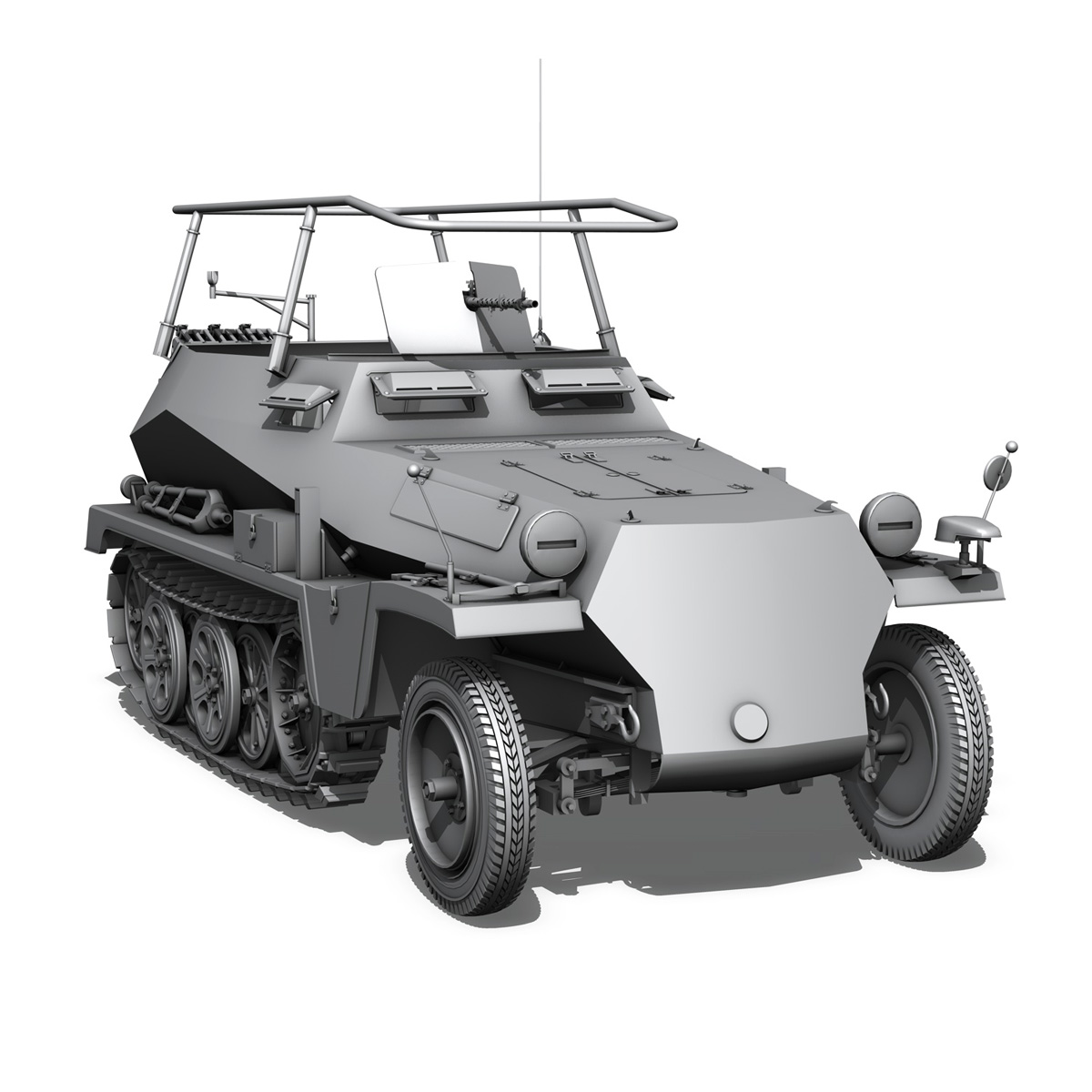 sdkfz 250 – command halftrack 3d model 3ds fbx c4d lwo obj 251675