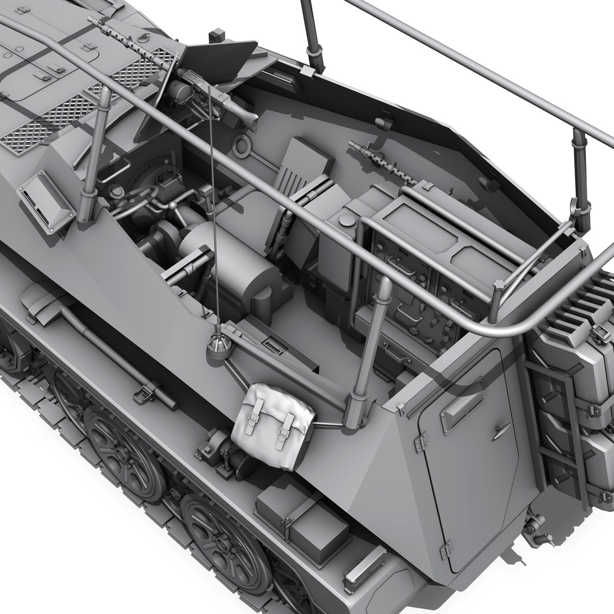 sdkfz 250 – command halftrack 3d model 3ds fbx c4d lwo obj 251676