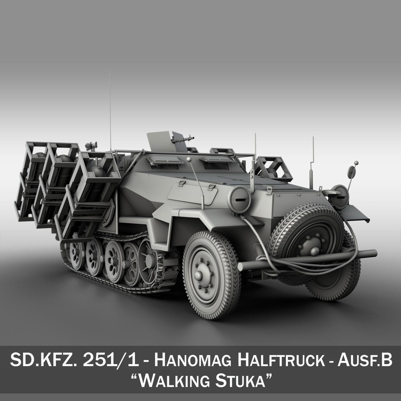 sdkfz 251 ausf.b – ground stuka 3d model 3ds fbx c4d lwo obj 251680