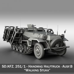 SDKFZ 251 Ausf.B - Ground Stuka ( 258.1KB jpg by Panaristi )