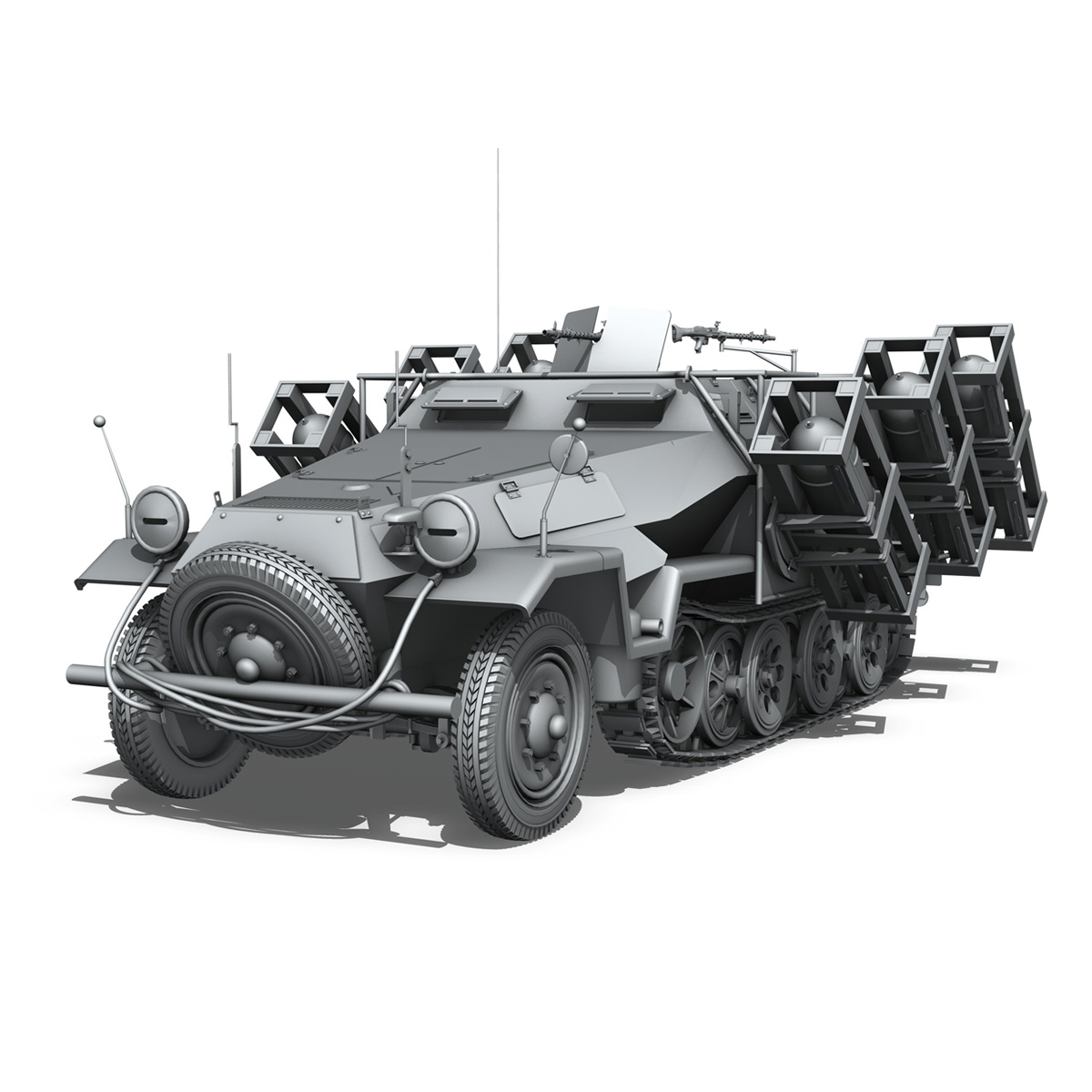 sdkfz 251 ausf.b – ground stuka 3d model 3ds fbx c4d lwo obj 251681