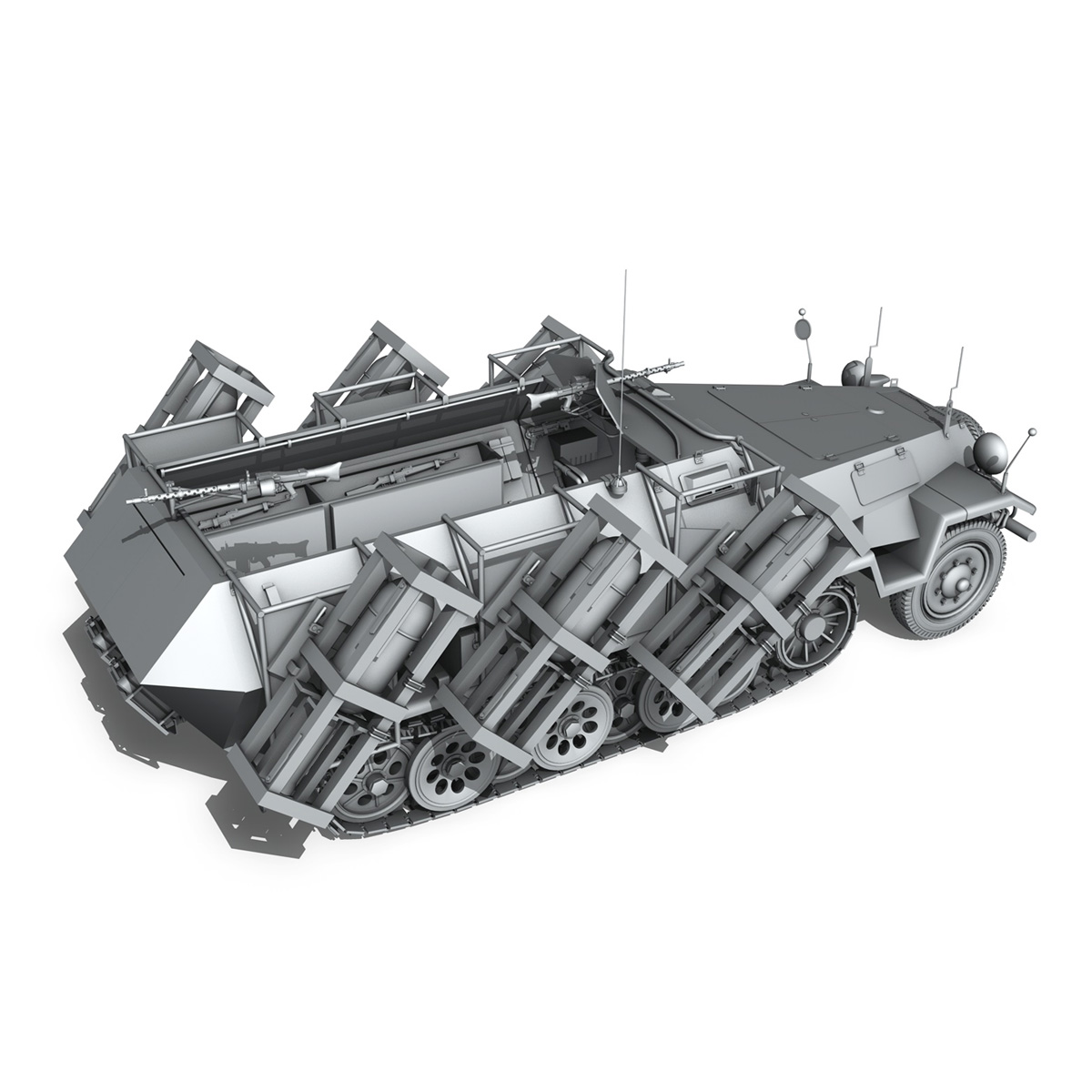 sdkfz 251 ausf.b – ground stuka 3d model 3ds fbx c4d lwo obj 251684