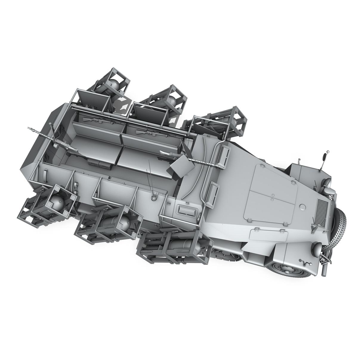 sdkfz 251 ausf.b – ground stuka 3d model 3ds fbx c4d lwo obj 251686