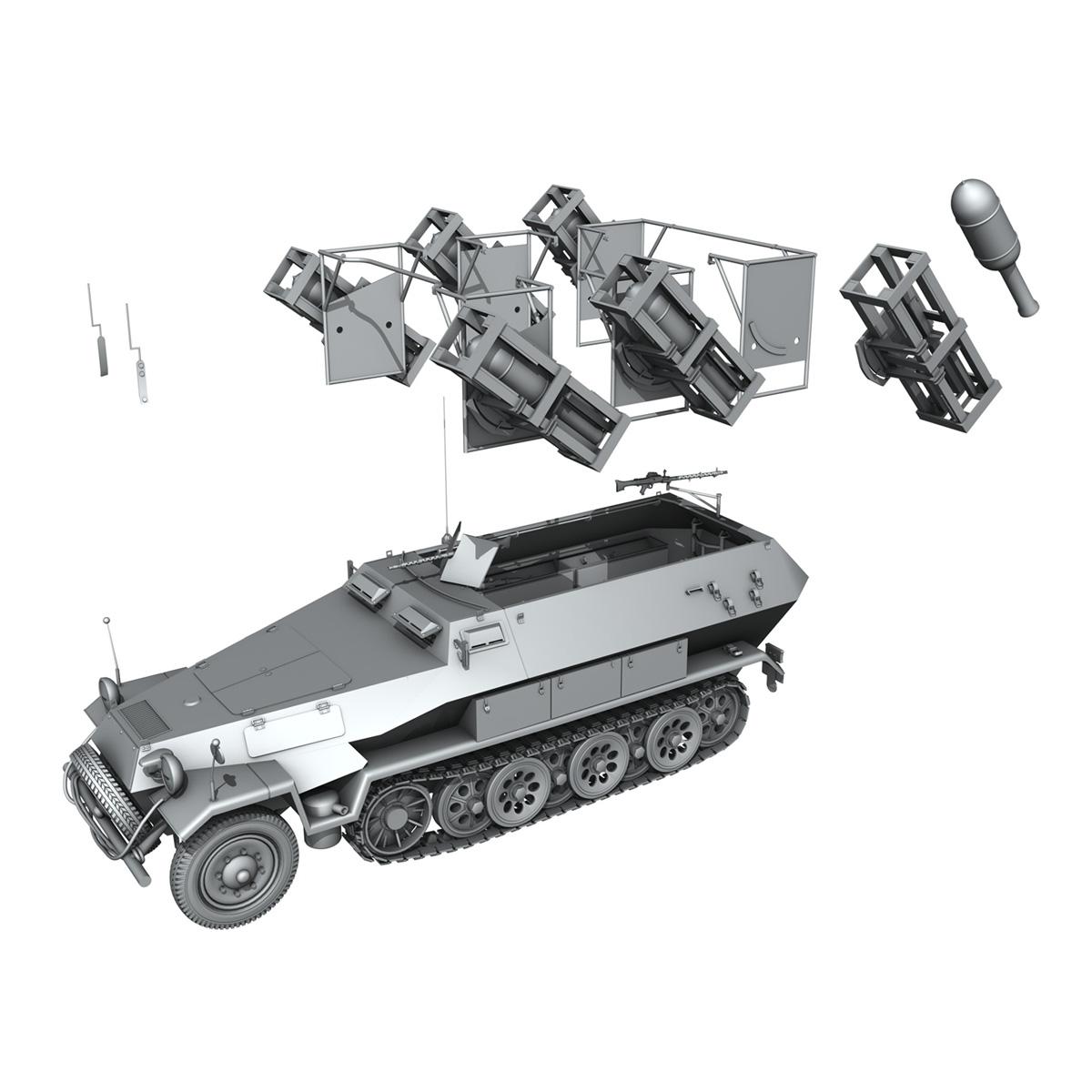 sdkfz 251 ausf.b – ground stuka 3d model 3ds fbx c4d lwo obj 251687