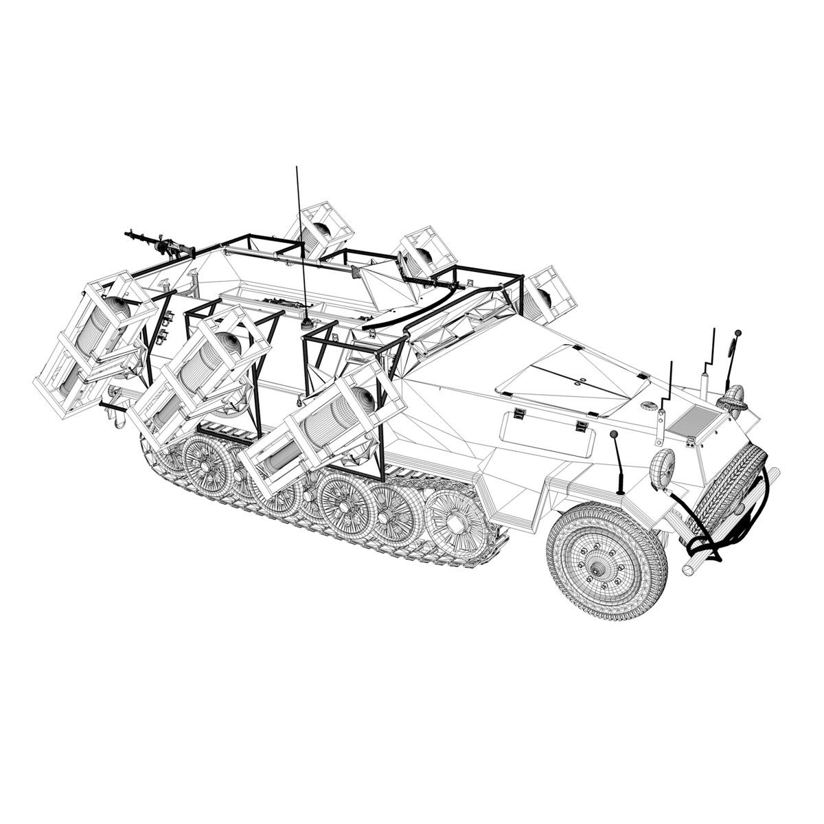 sdkfz 251 ausf.b – ground stuka 3d model 3ds fbx c4d lwo obj 251689