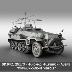 SDKFZ 251 Ausf.B - Communications Vehicle ( 261.57KB jpg by Panaristi )