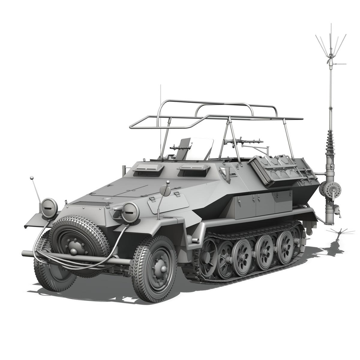 sdkfz 251 ausf.b – communications vehicle 3d model 3ds fbx c4d lwo obj 251692