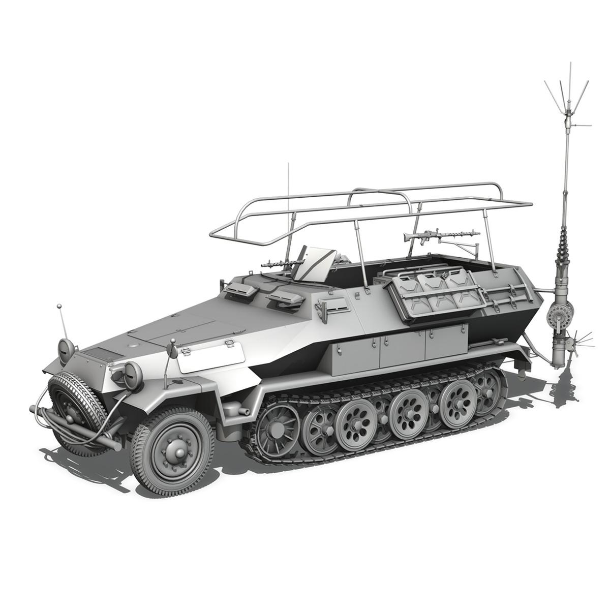 sdkfz 251 ausf.b – communications vehicle 3d model 3ds fbx c4d lwo obj 251693