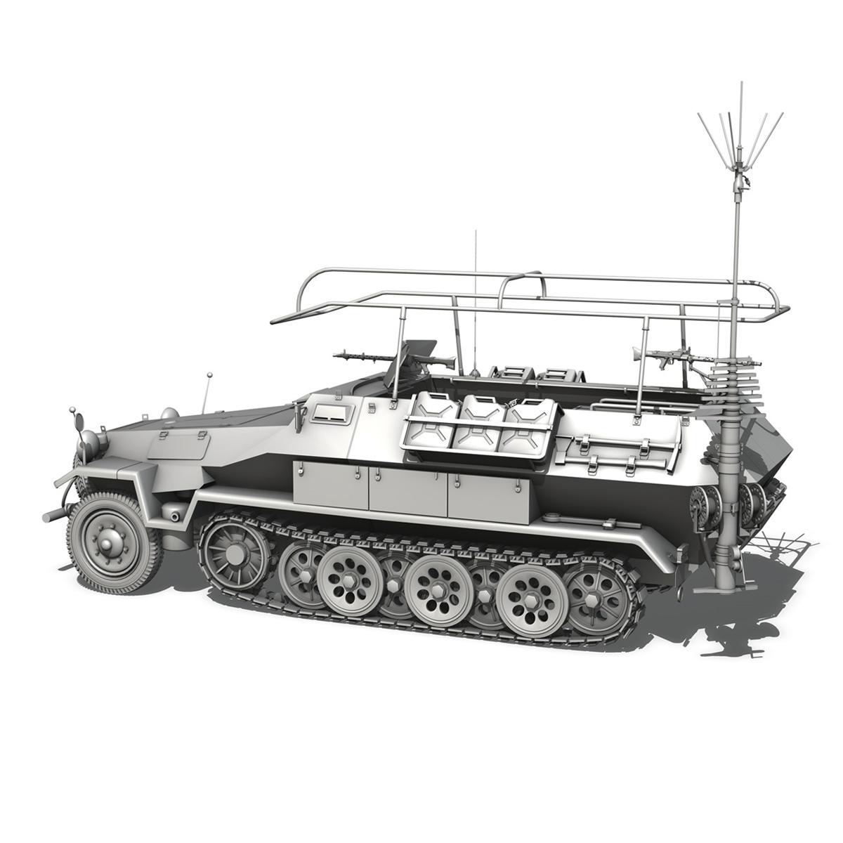 sdkfz 251 ausf.b – communications vehicle 3d model 3ds fbx c4d lwo obj 251694