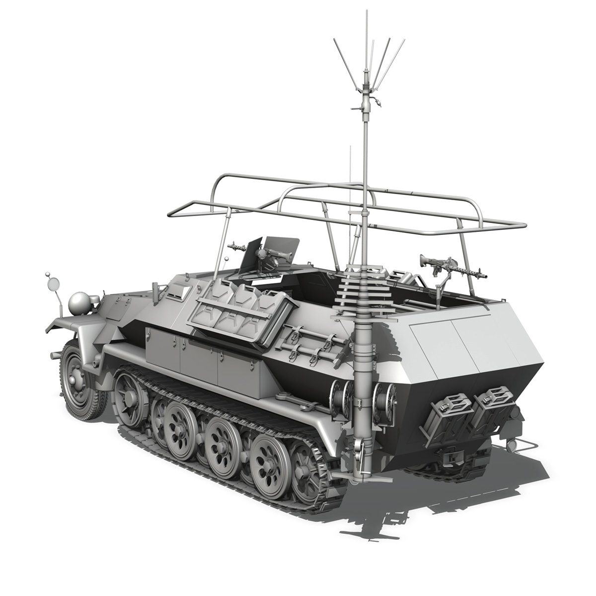sdkfz 251 ausf.b – communications vehicle 3d model 3ds fbx c4d lwo obj 251695