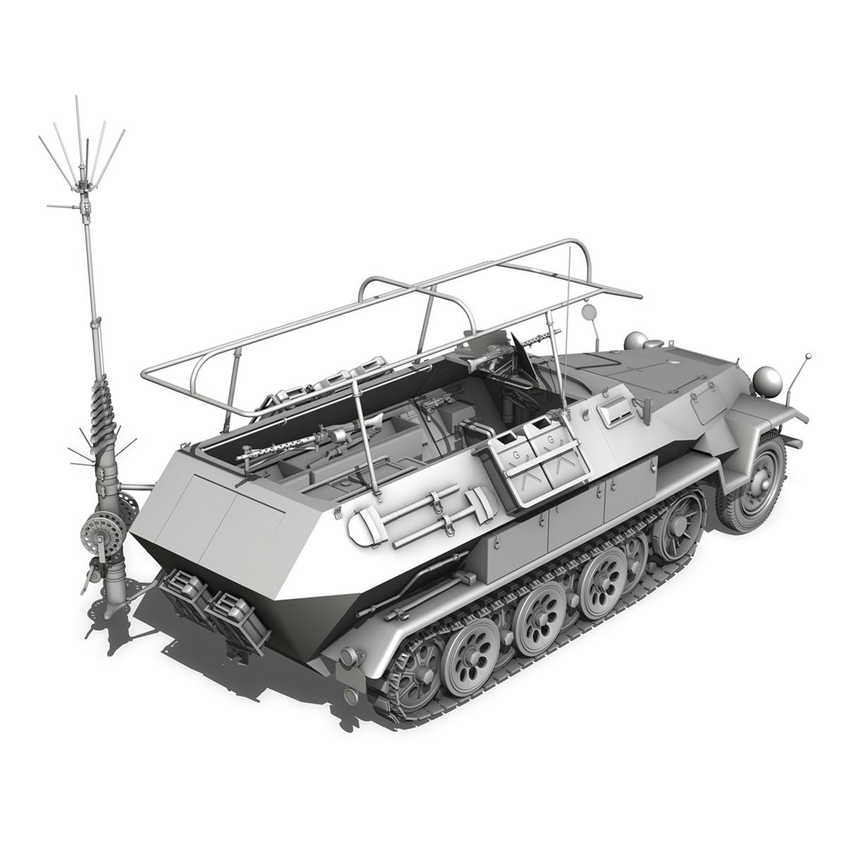 sdkfz 251 ausf.b – communications vehicle 3d model 3ds fbx c4d lwo obj 251696