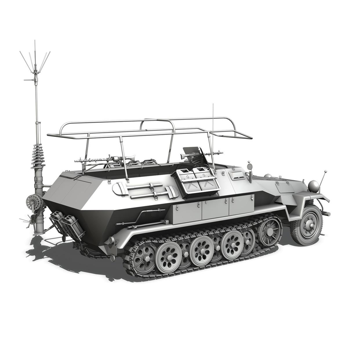 sdkfz 251 ausf.b – communications vehicle 3d model 3ds fbx c4d lwo obj 251697