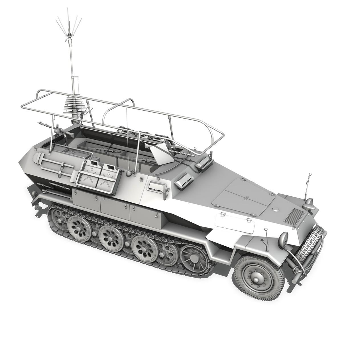 sdkfz 251 ausf.b – communications vehicle 3d model 3ds fbx c4d lwo obj 251698